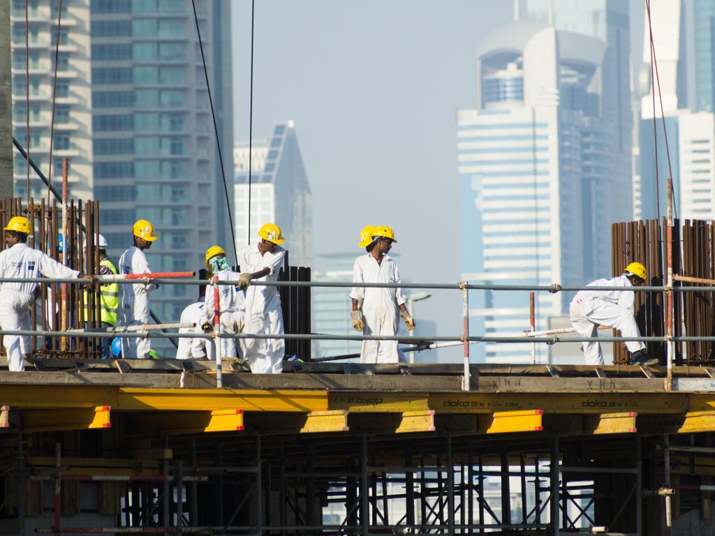 Bauarbeiter in Abu Dhabi
