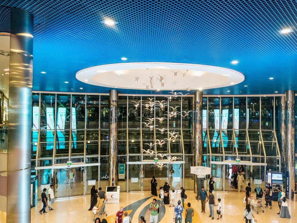 Der Eingang zur Marina Mall