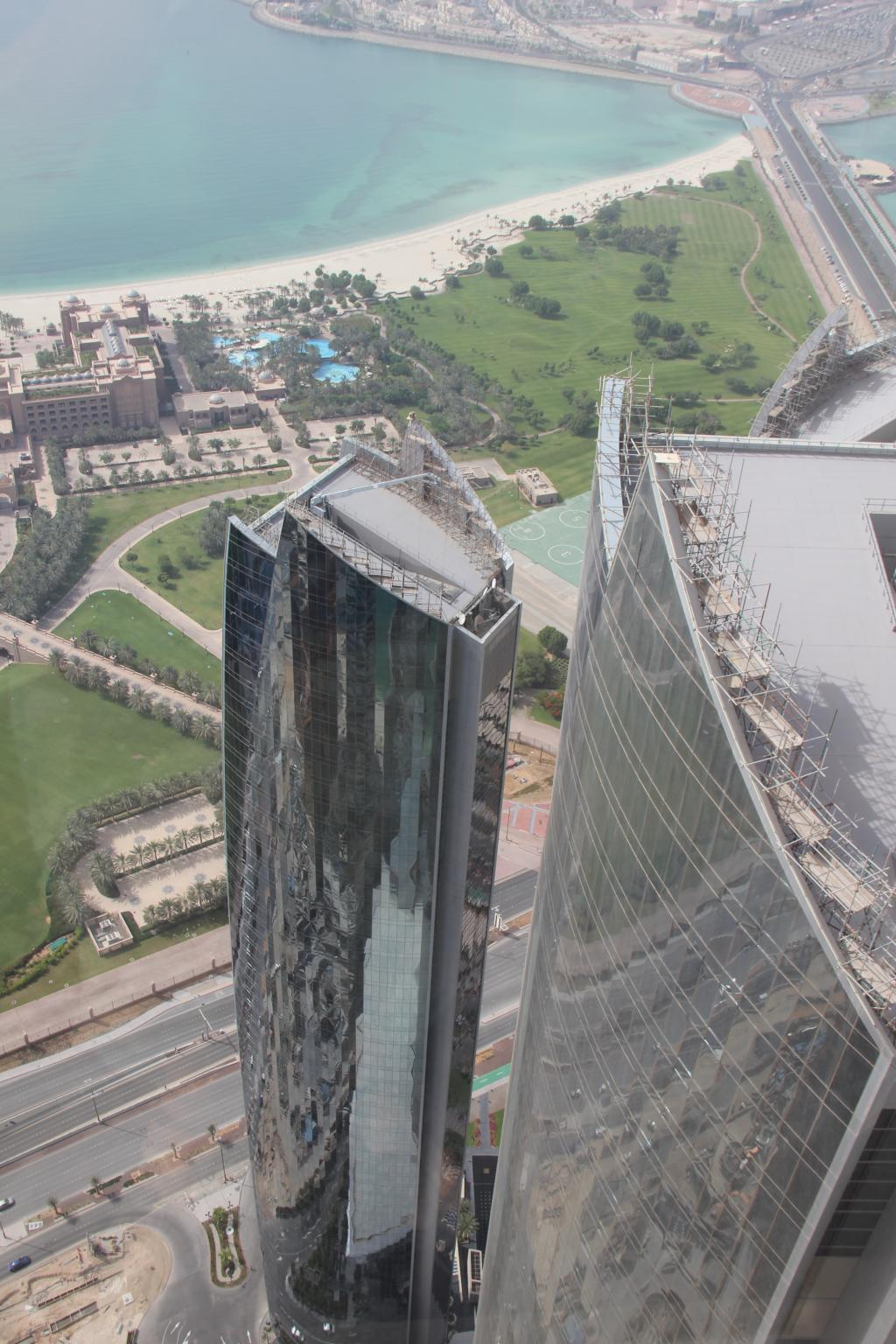 Die Aussicht von den Etihad Towers