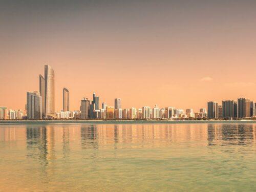Die Skyline von Abu Dhabi