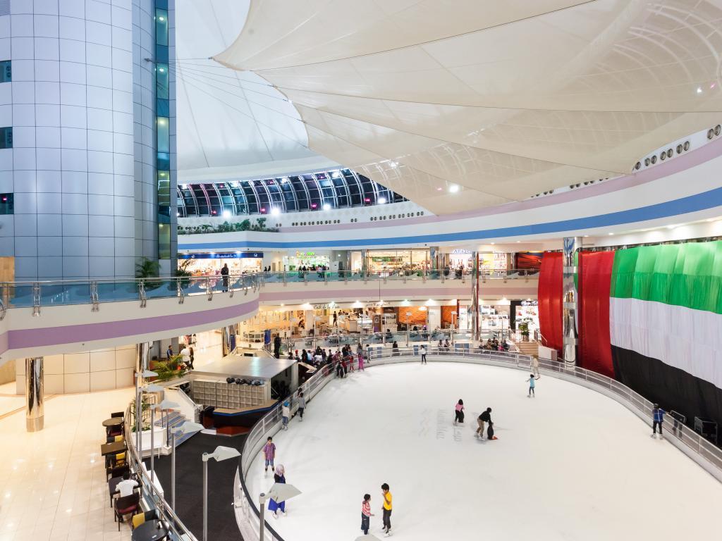 Eislaufbahn in der Marina Mall