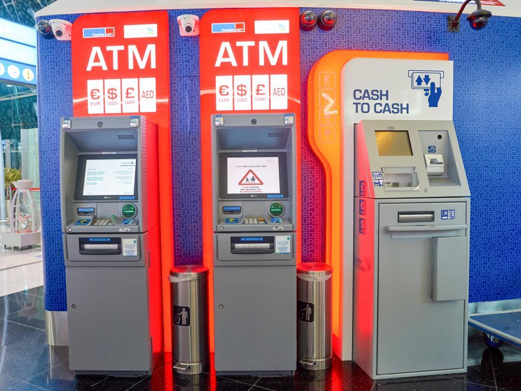 Ein Geldautomat in den VAE
