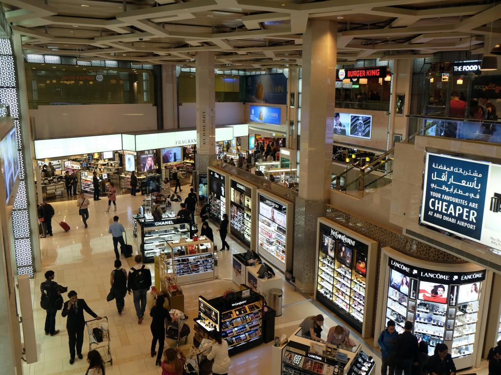 Geschäfte im Abu Dhabi Duty Free