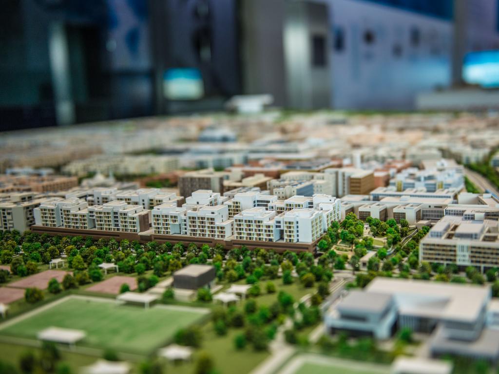 Modellbild von Masdar City