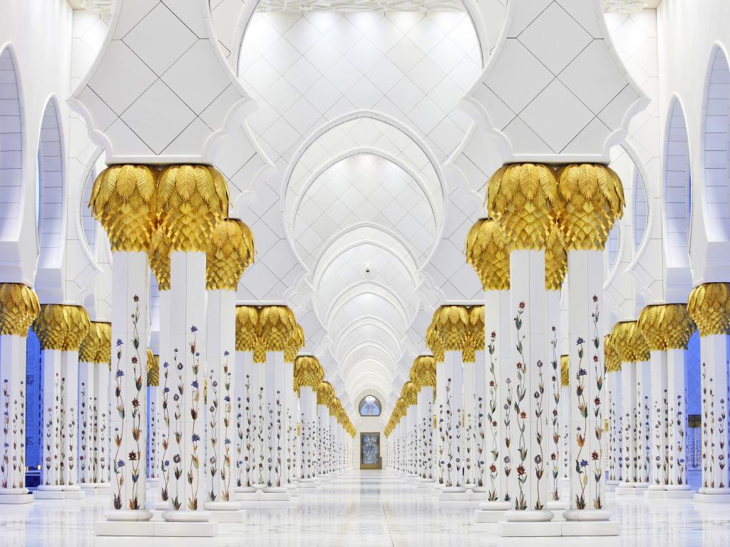 Sheikh Zayed Moschee Säulen aus Marmor