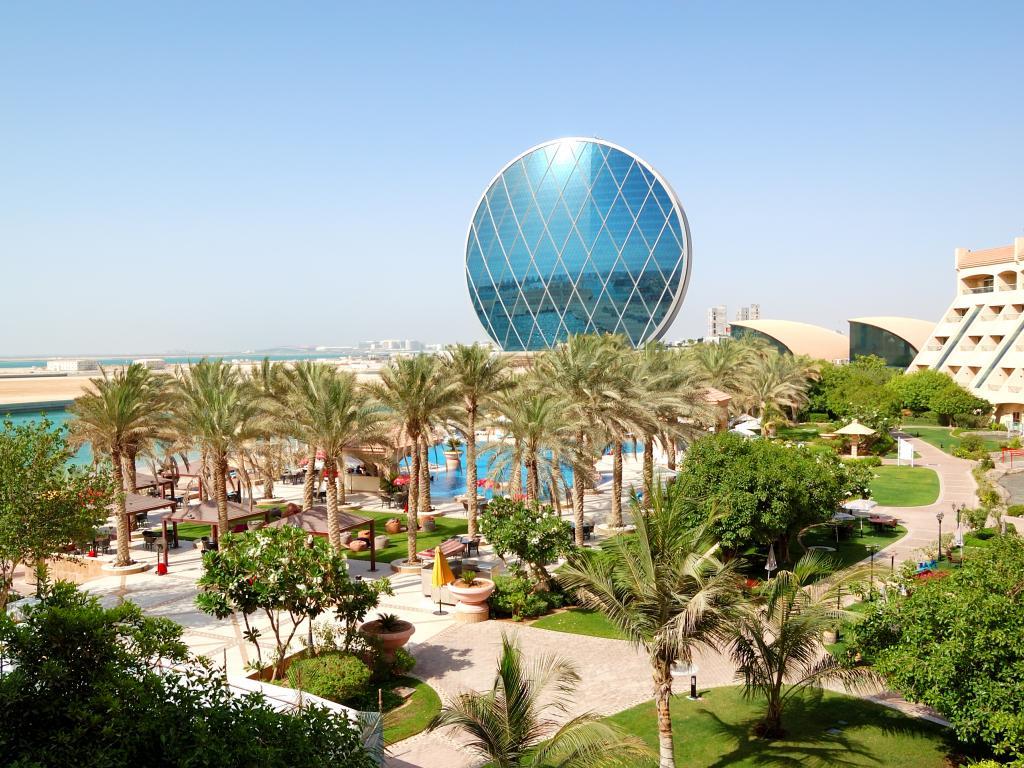 Blick vom Al Raha Beach Hotel