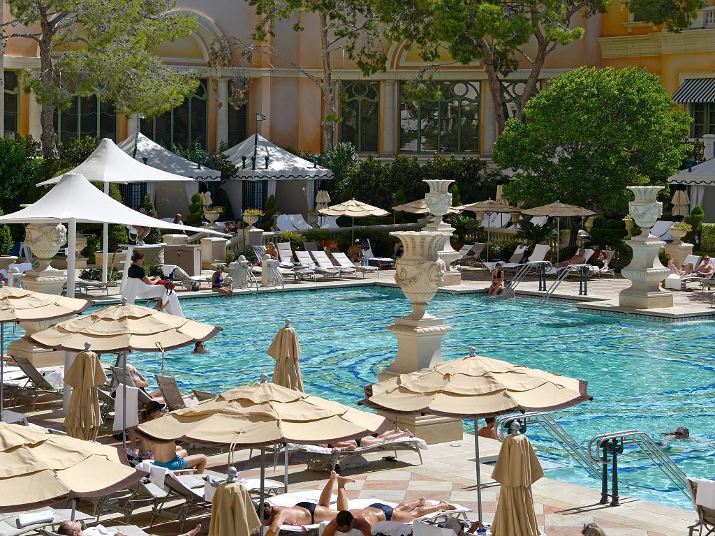 Der Pool vom Bellagio Hotel