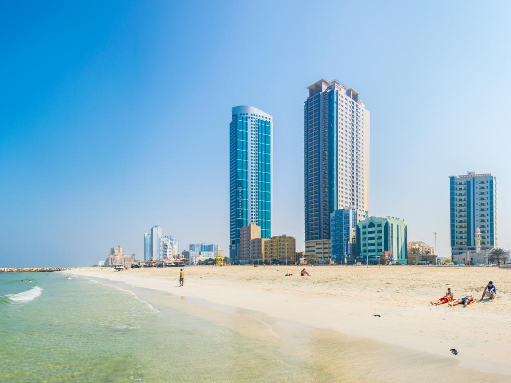 Der Strand in Ajman