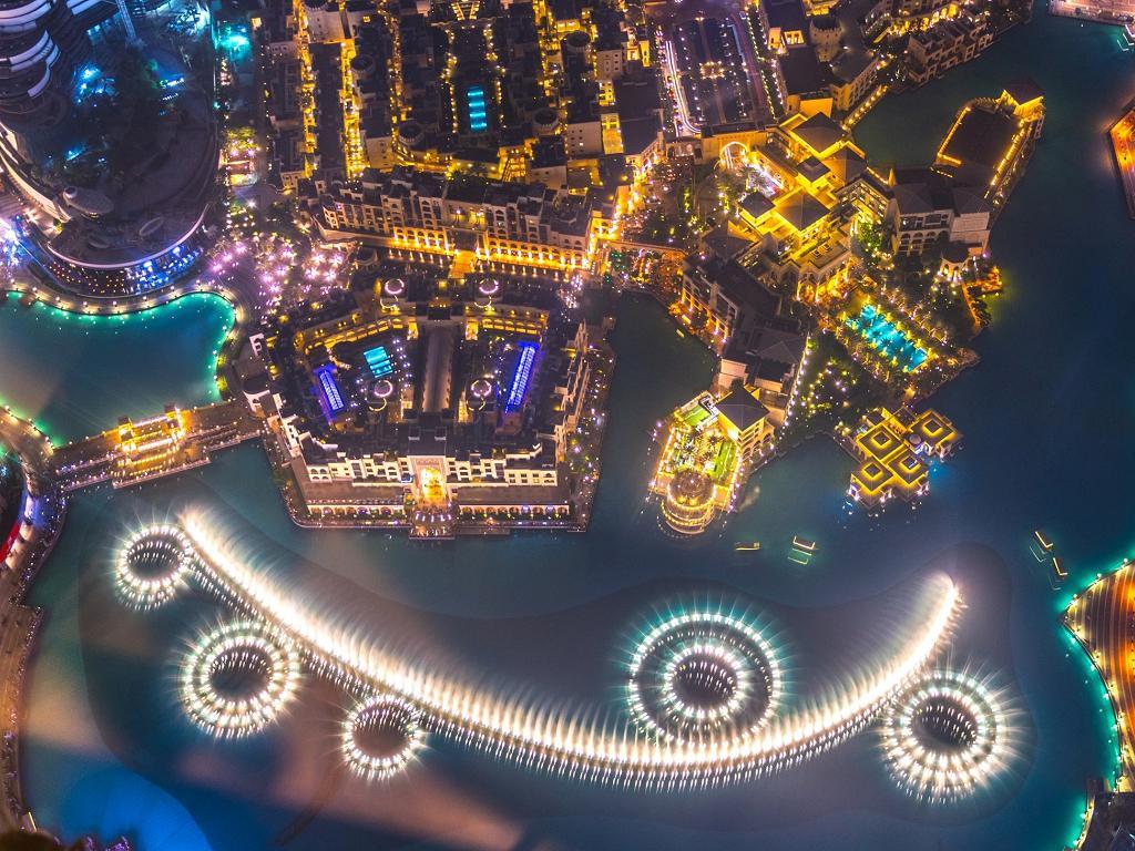 Die Show vom Burj Khalifa aus gesehen