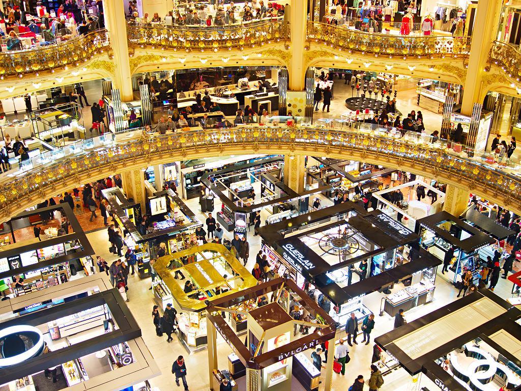 Geschäfte in den Galeries Lafayette