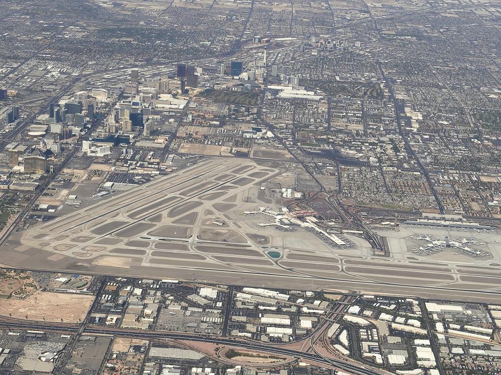 Panorama vom Flughafen Las Vegas
