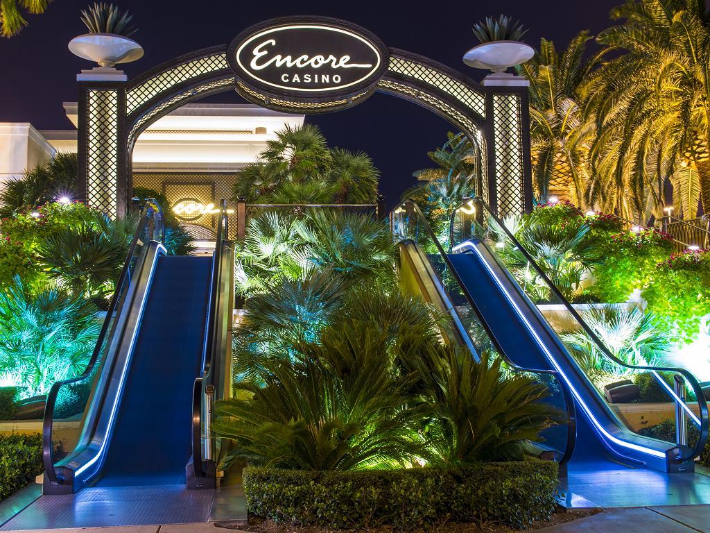Rolltreppe zum Encore Casino