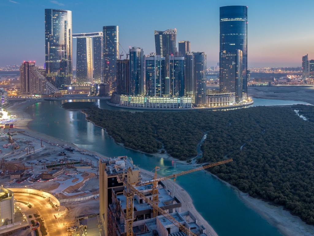 Die Skyline von Al Reem