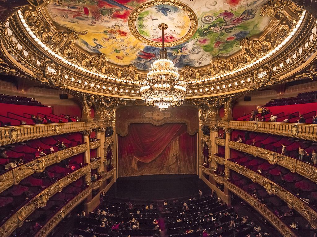 Zauschauerraum der Oper