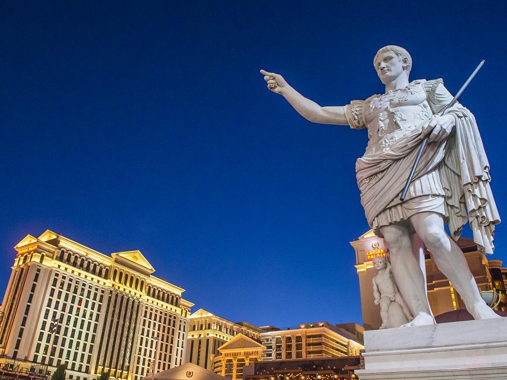 Eine Statue im Caesars Palace