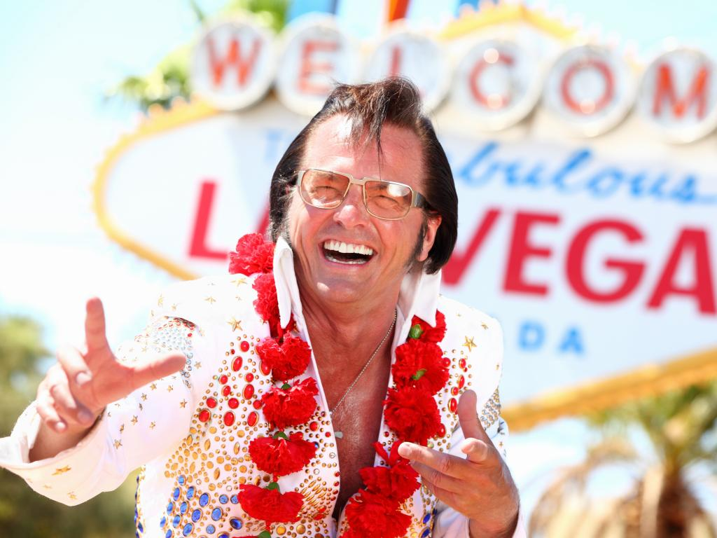 Ein Elvis Imitator