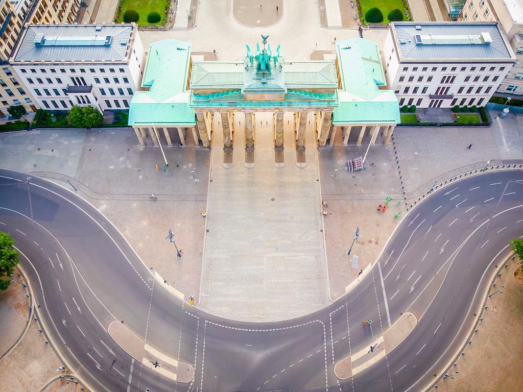 Panorama vom Brandenburger Tor
