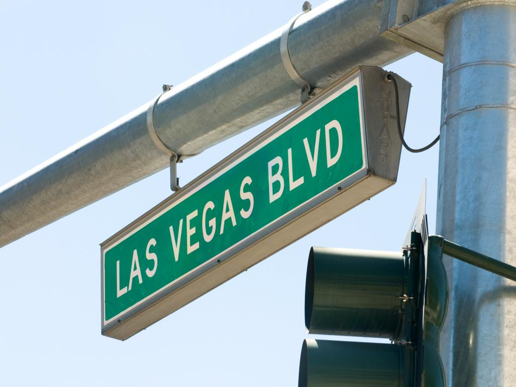 Das Schild vom Las Vegas Boulevard