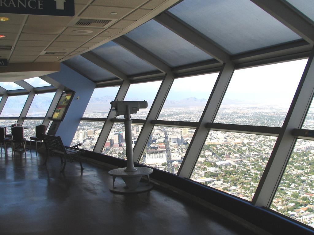 Die Aussichtsplattform vom Stratosphere Tower