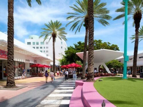 Die Lincoln Road in Miami Beach
