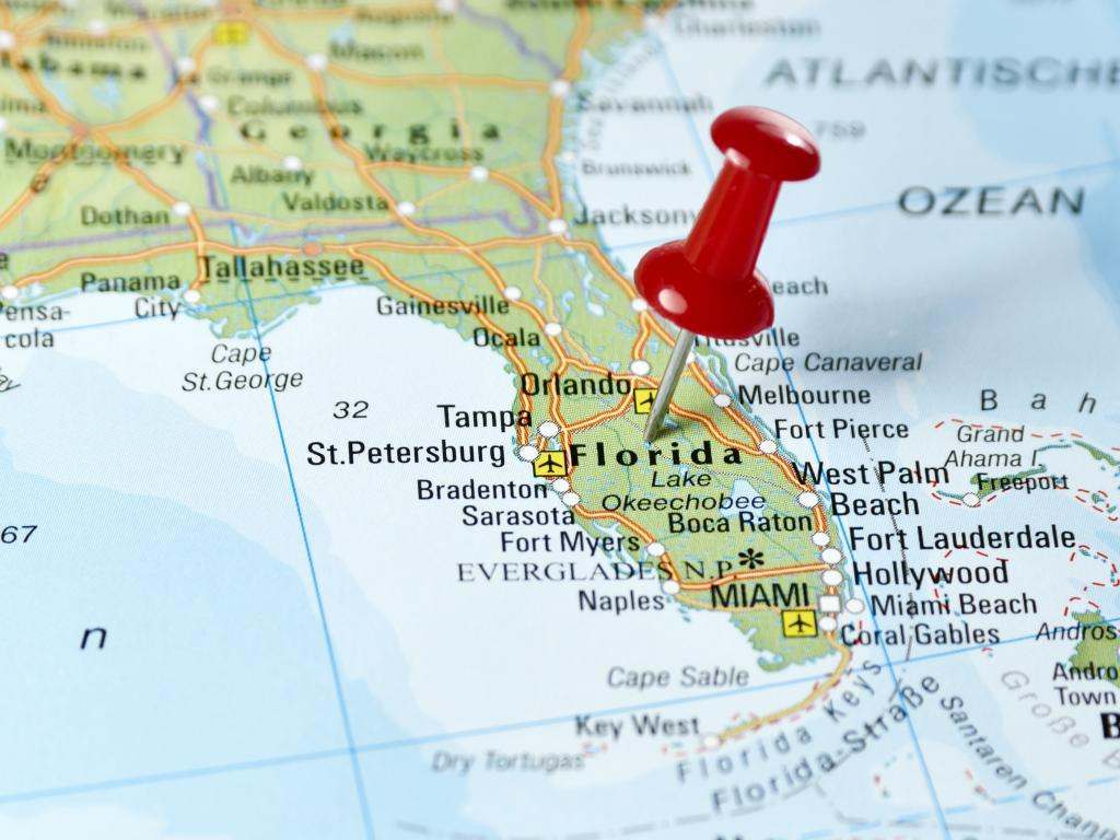 Wo liegt Miami in den USA