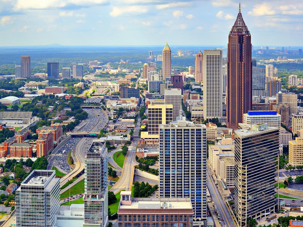 Die Skyline von Atlanta