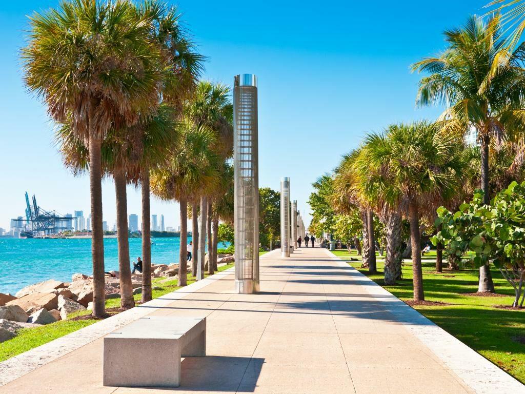 Der South Pointe Park in Miami Beach