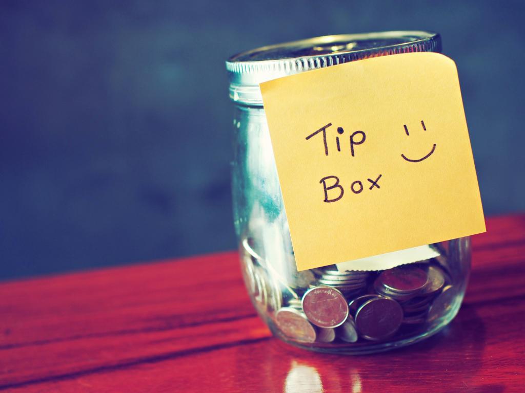Eine Tip Box in den USA