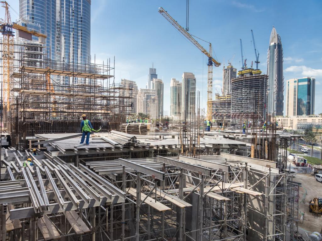 Abu Dhabi Baustellen