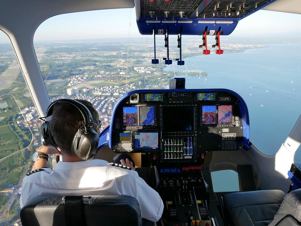 Blick vom Cockpit aus