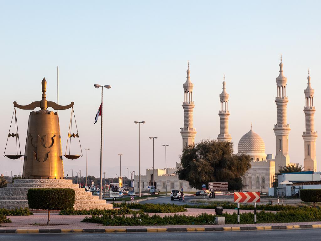 Eine Moschee in Ras al Khaimah