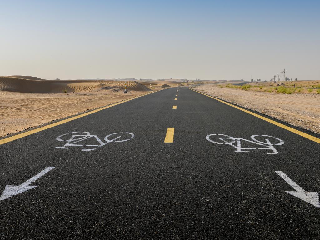 Die Strecke vom Al Qudra Cycle Path
