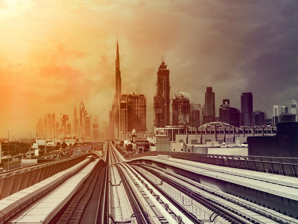 Dubai Skyline Sandsturm