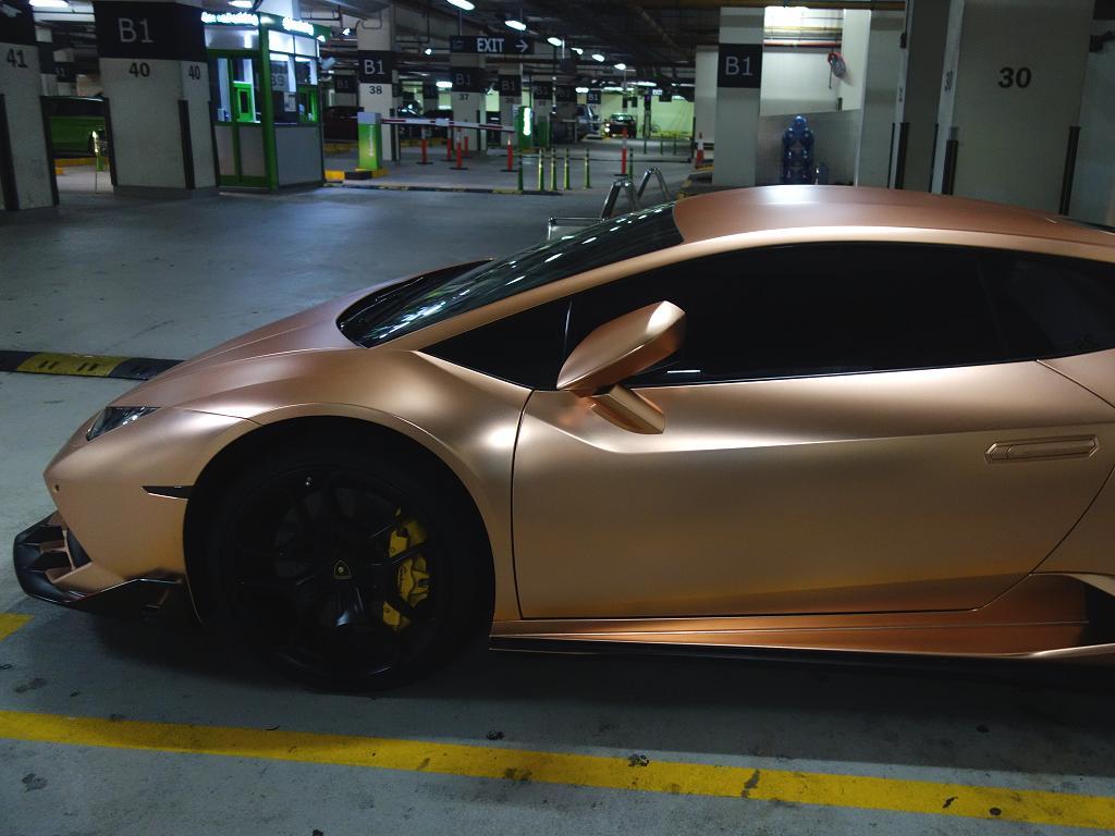 Ein Lamborghini in Gold