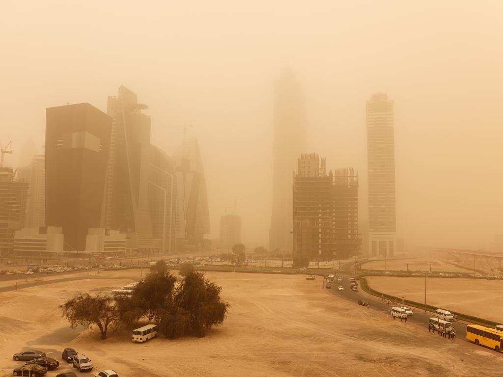Ein Sandsturm in Dubai