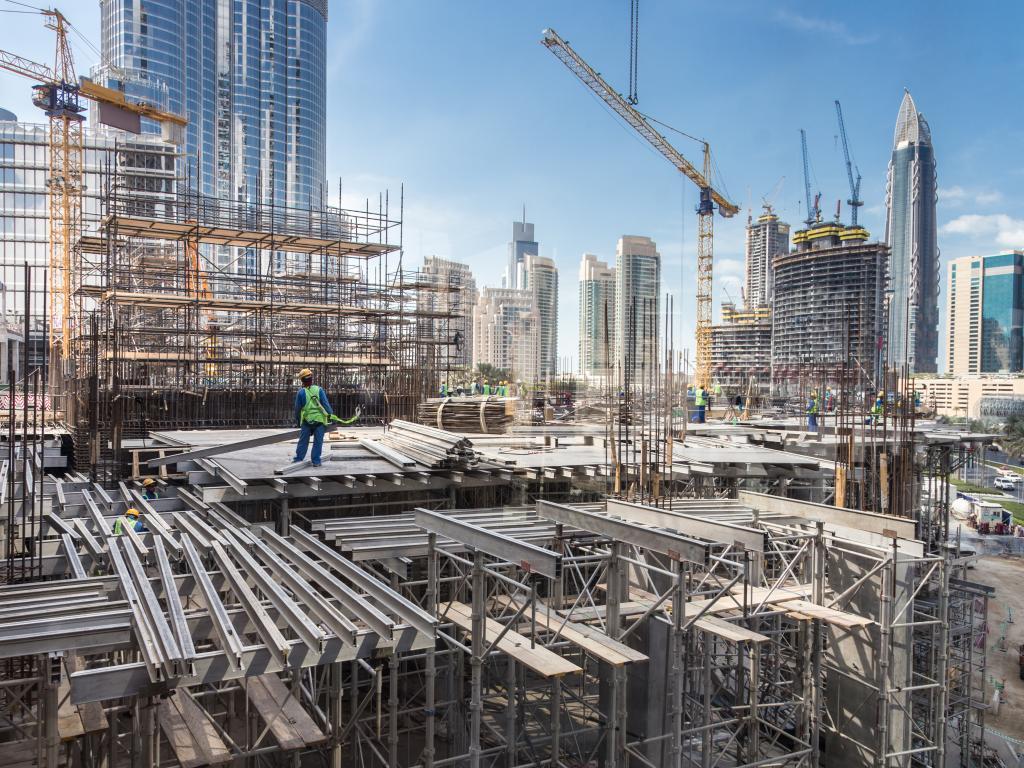 Eine Baustelle in Dubai