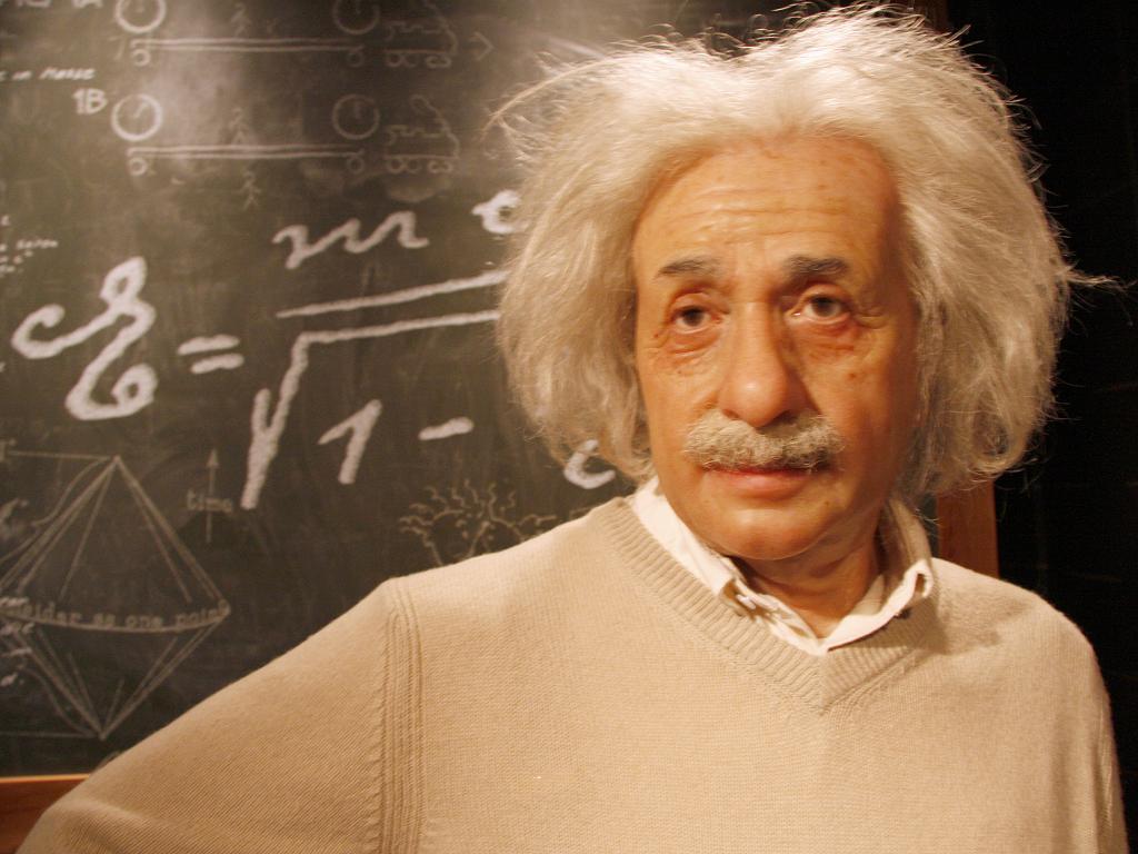 Albert Einstein Wachsfigur